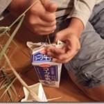 脱穀・籾摺り実習