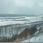 極寒の宗谷岬