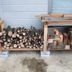 薪棚の製作(1号機)